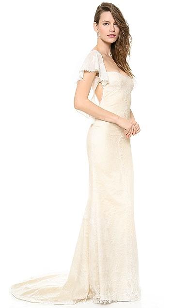 Katie May Vienna Flutter Sleeve Gown