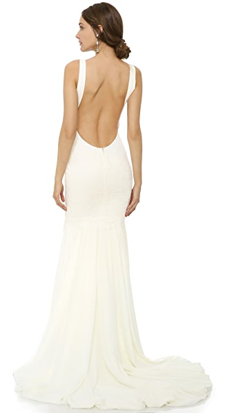 Katie May Monaco Gown In Ivory
