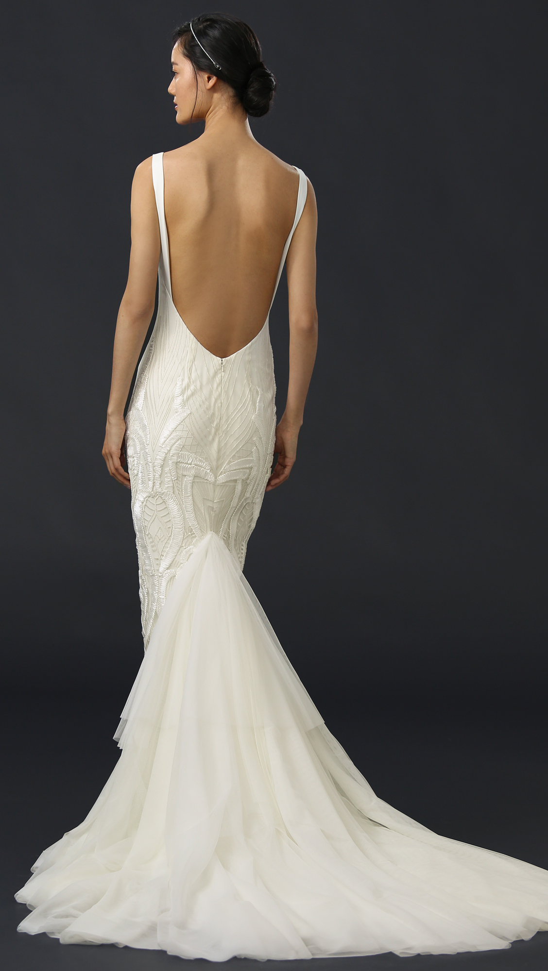 Katie May Geneva Gown with Removable Train | SHOPBOP