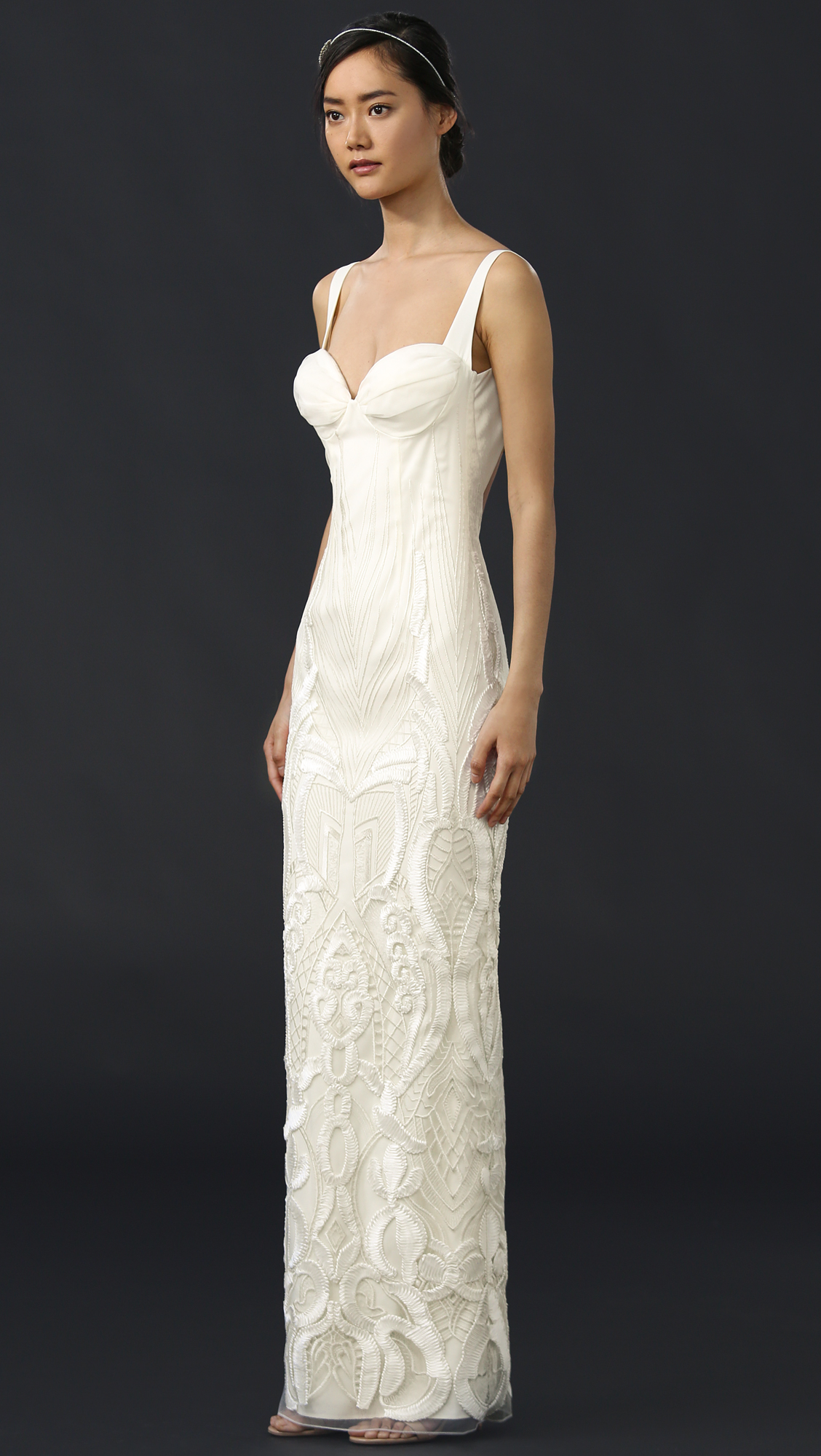 Katie May Geneva Gown with Removable Train   SHOPBOP