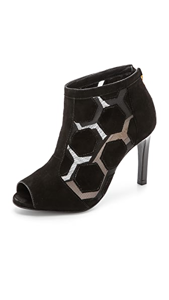 Kat Maconie London Amber Peep Toe Booties