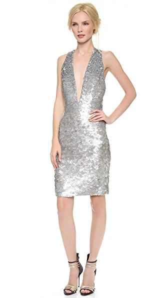KAUFMANFRANCO Fish Scales V Dress