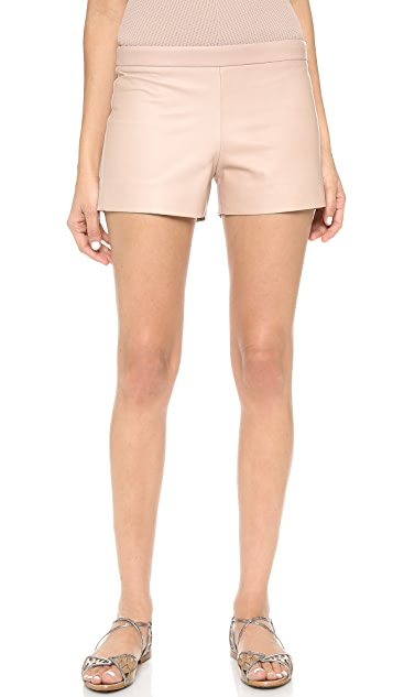KAUFMANFRANCO Leather Front Shorts