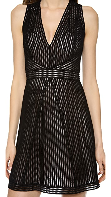 KAUFMANFRANCO Sleeveless Lace Dress