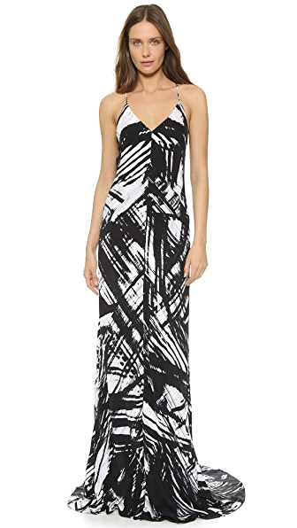 KAUFMANFRANCO Sleeveless Print Gown