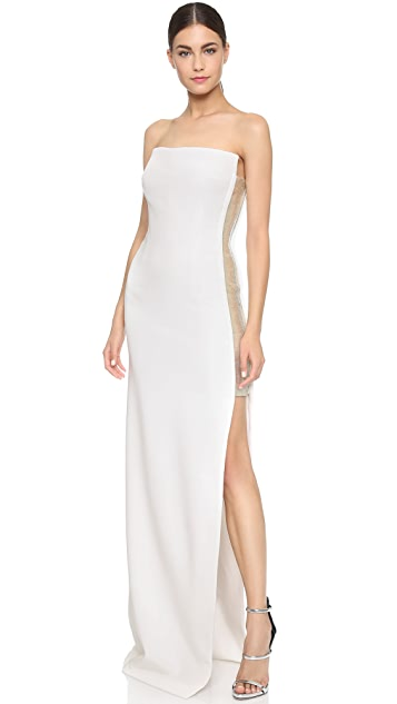 KAUFMANFRANCO Strapless Gown