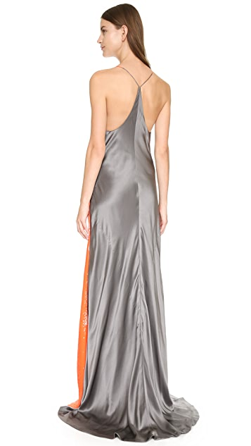KAUFMANFRANCO Sleeveless Sequin Gown