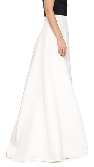 KAUFMANFRANCO Silk Faille Maxi Skirt