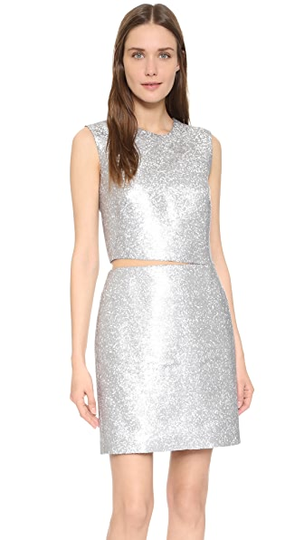 KAUFMANFRANCO Liquid Sequin Cocktail Dress