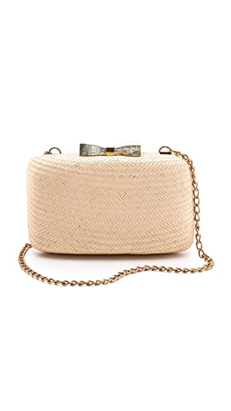 Kayu Annie Straw & Shell Clutch