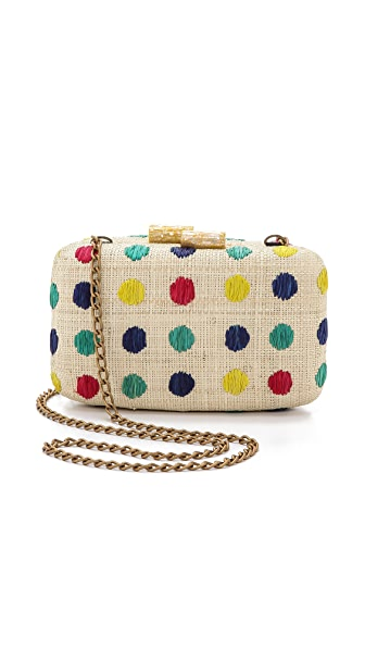 Kayu Dottie Straw Clutch