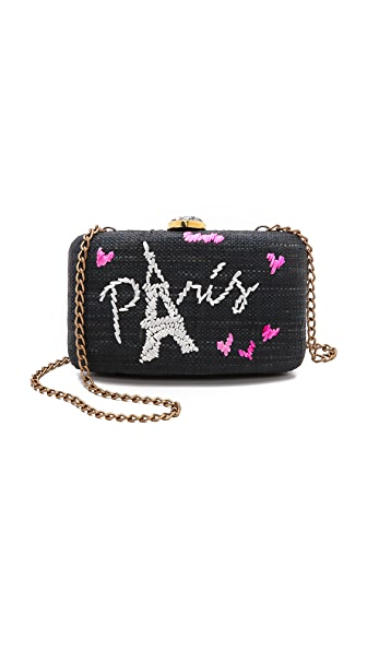 Kayu Paris Embroidered Clutch