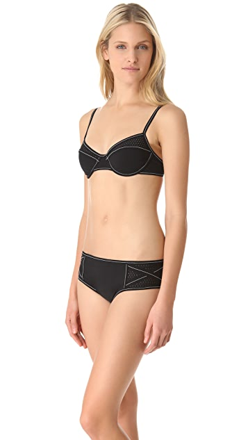Karla Colletto Perforated Bra Bikini Top