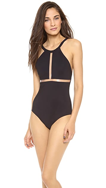 Karla Colletto Transparent One Piece Swimsuit