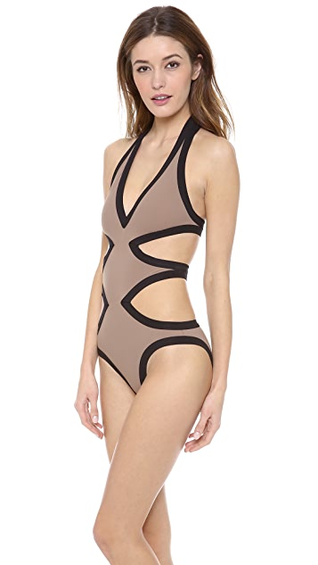Karla Colletto Contrast One Piece Swimsuit