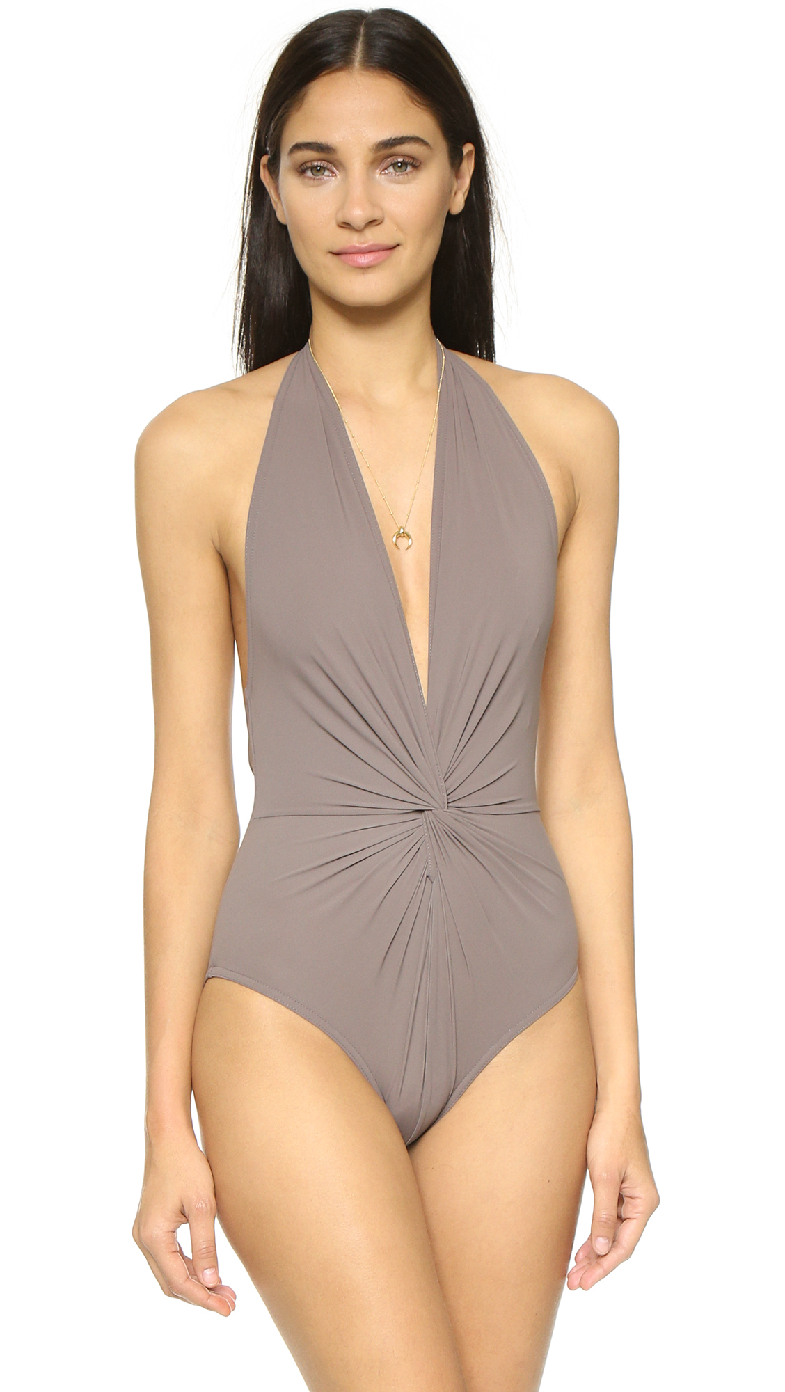 e61cb2aed3d5e Karla Colletto Low Back Plunge Swimsuit | SHOPBOP
