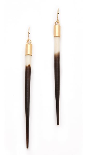 Kristen Elspeth Small African Quill Earrings