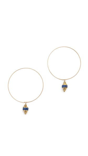 Kristen Elspeth Aztec Drop Hoop Earrings