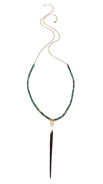 Kristen Elspeth Beaded Quill Necklace