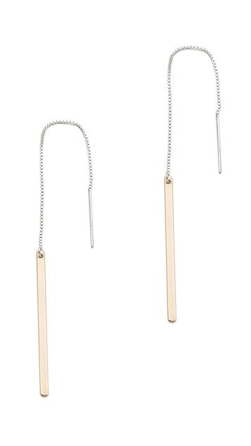 Kristen Elspeth Monolith Pull Through Earrings