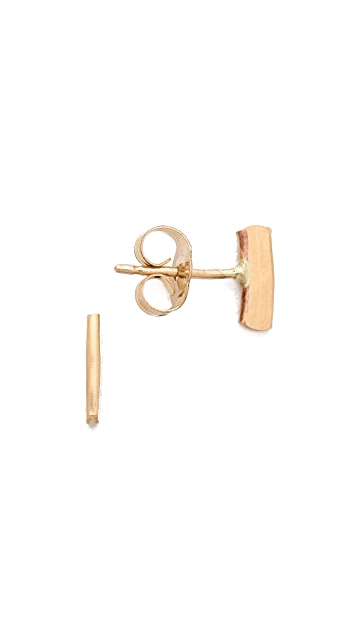 Kristen Elspeth Hammered Bar Stud Earrings