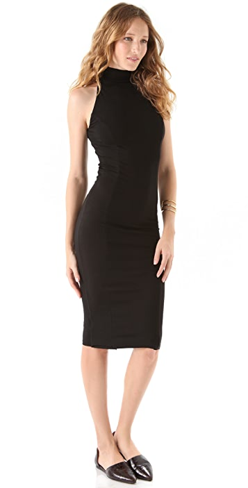 Kelly Bergin Sleeveless Seamed Turtleneck Dress