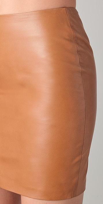 Kelly Bergin Leather Miniskirt