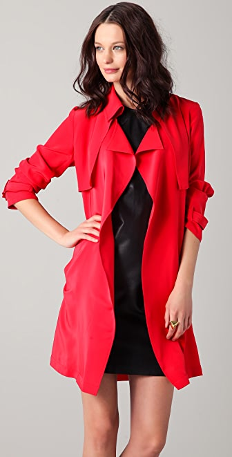 Kelly Bergin Silk Trench Coat