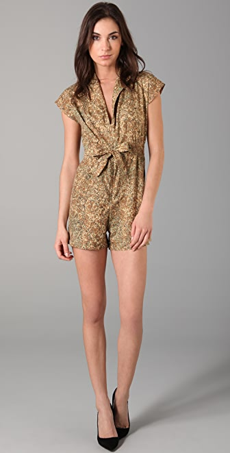 Kenny Kenny Romper with Tie Waist