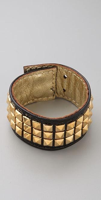 Kettle Black Gold Stud Bracelet