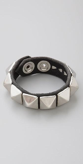 Kettle Black Studded Snap Bracelet