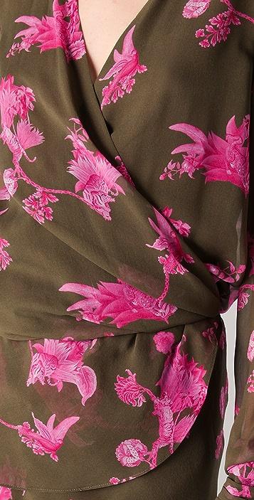 Kevork Kiledjian Print Wrap Dress