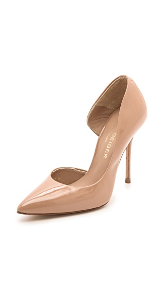 Kurt Geiger London Anja d'Orsay Patent Pumps