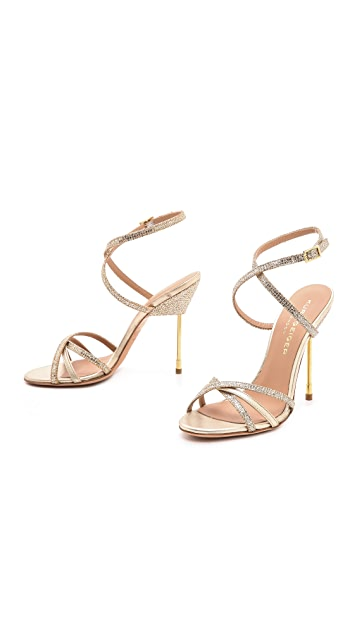 Kurt Geiger London Bridge Strappy Metallic Sandals