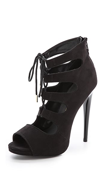 KG Kurt Geiger Jupiter Faux Suede Lace Up Sandals