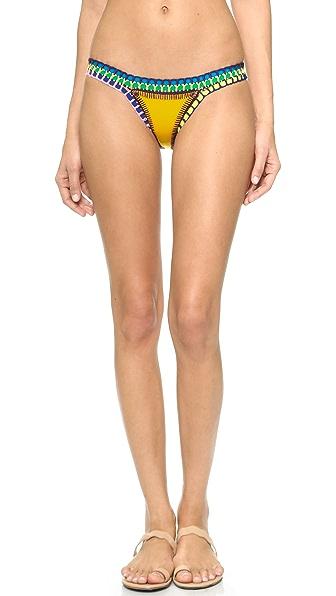 Kiini Ro Bikini Bottoms - Bright Yellow/Multi