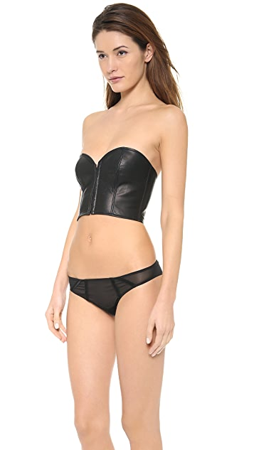 Kiki De Montparnasse Leather Strapless Top