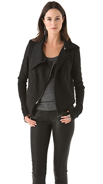 Kimberly Ovitz Cropped Jacket with Zip Collar