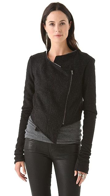 Kimberly Ovitz Cropped Jacket with Zip Collar