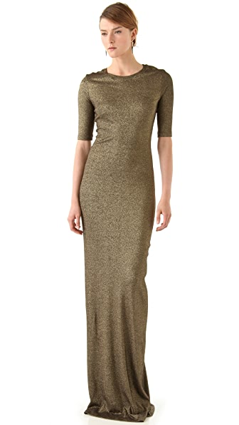 Kimberly Ovitz Metallic Jersey Maxi Dress