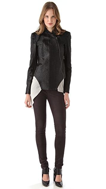 Kimberly Ovitz Cropped Faux Fur Jacket