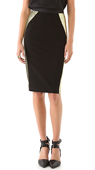 Kimberly Ovitz Pooka Pencil Skirt