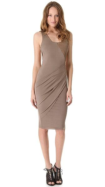 Kimberly Ovitz Sinti Dress with Leather Trim