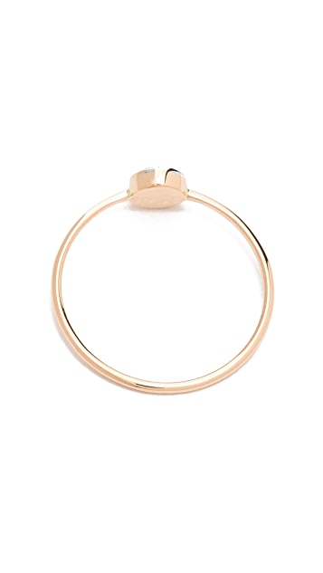 Kismet by Milka Pave Circle Ring