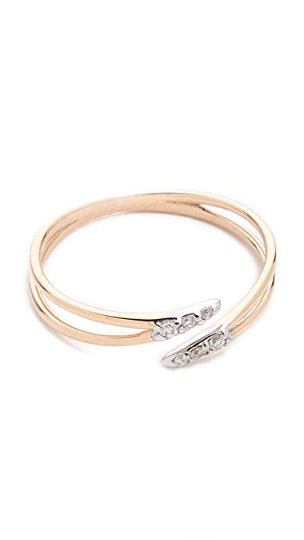 Kismet by Milka Open Pave Ring