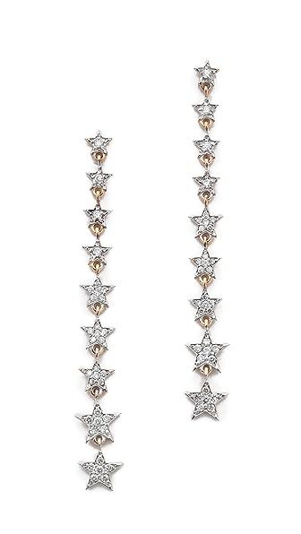Kismet by Milka Heroine Long Star Earrings