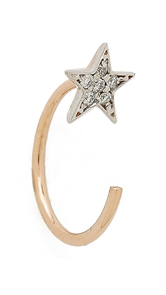 Kismet by Milka Star Open Hoop Earring