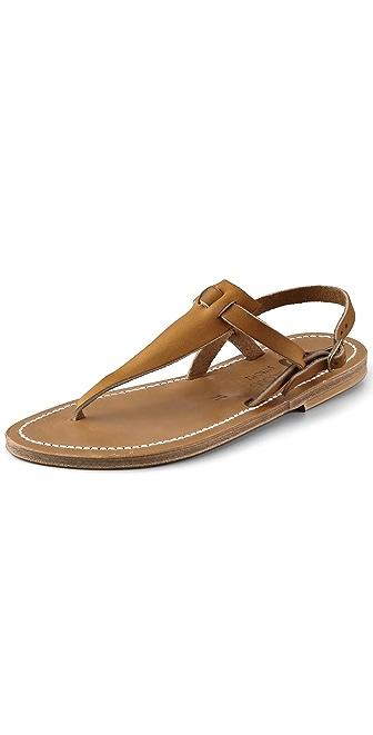 K. Jacques Cyrus Broad Thong Sandals