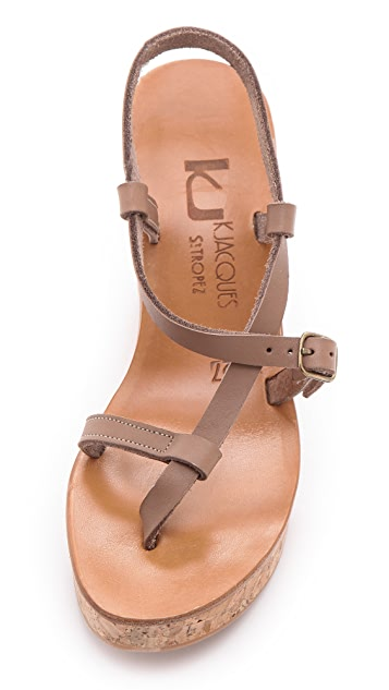 K. Jacques Diapason Cork Slide Sandals