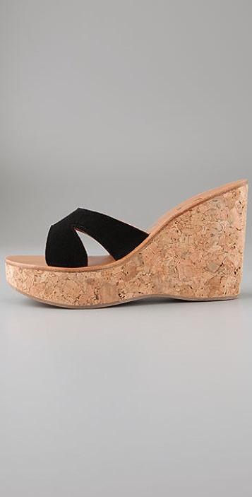 K. Jacques Kyoto Cork Slide Sandals